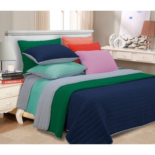 Superior Reversible Brandon Stripe Cotton Quilt Set