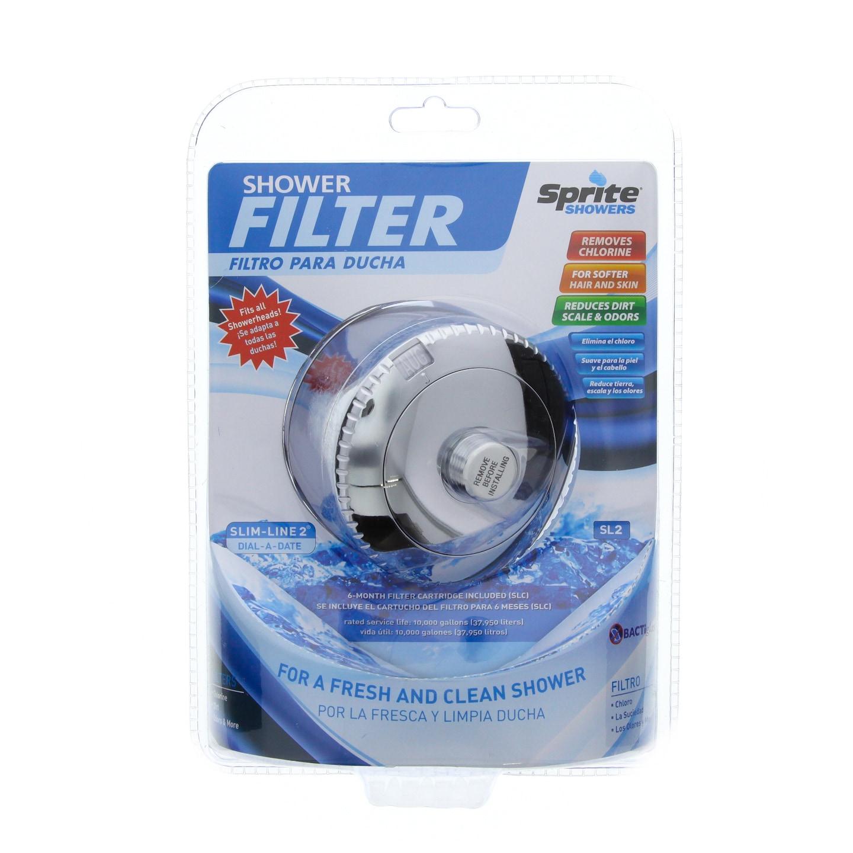SL-CM Sprite Slim Line Universal Shower Filter System - C...