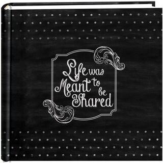 """Pioneer 2Up Chalkboard Print Album 200 4inX6in PocketsShared - BLACK/WHITE - 8 3/4"""" x 9"""""""