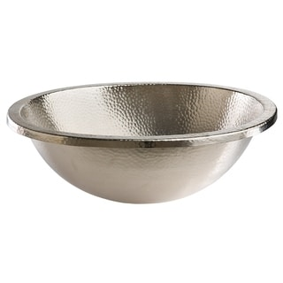 "Sinkology Edison 18.5"" Dual Mount Oval Bath Sink in Hammered Nickel"