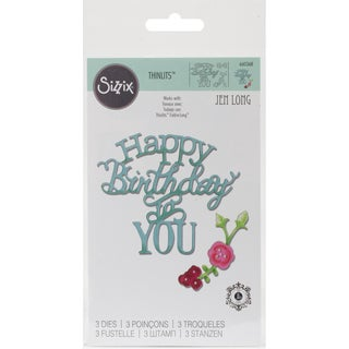 Sizzix Thinlits Dies 3/PkgHappy Birthday To You