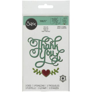 Sizzix Thinlits Dies 3/PkgThank You W/Hearts