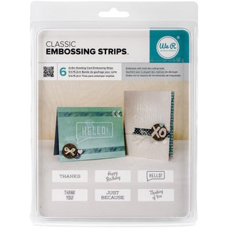 We R Phrase Strips Embossing Folders 6inX2in 6/PkgClassic