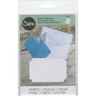 Sizzix Inksheets Transfer Film Sheets 4inX6in 5/PkgWhite