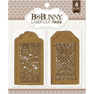 BoBunny LaserCut Chipboard 3.5inX9inLace Tags