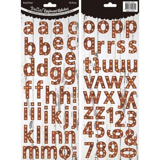 Bella! Wedding Chipboard Alphabet 70 PiecesIndustrial