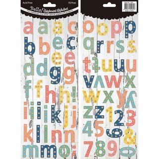 Bella! Wedding Chipboard Alphabet 70 PiecesPastel