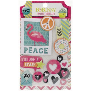#Forever Young SelfAdhesive Layered Chipboard