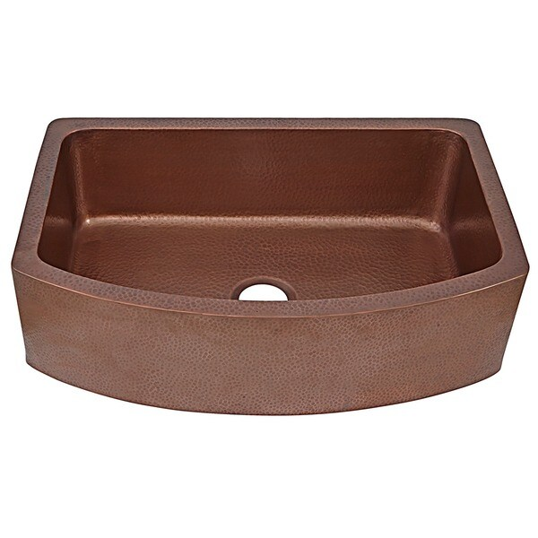 Farmhouse Apron Front Sink : Farmhouse Apron Front Copper Sink 25 inch Single Bowl Kitchen Sink ...