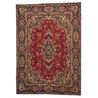 Handmade Persian Kerman Even Wear Oriental Rug (9'9 x 13'10)