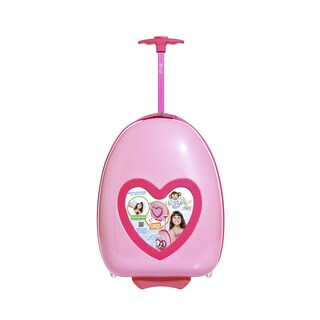Lil Selfie Club Kids Personalized Carry-on Upright Suitcase (Option: Pink)