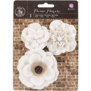 Chaste Mulberry Paper FlowersSancia, 2in To 3.25in 3/Pkg