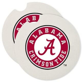 Alabama Crimson Tide Absorbent Stone Car Coaster (Set of 2)