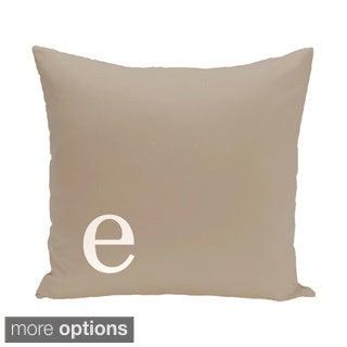 Brown 16 x 16-inch Monogram Print Decorative Pillow