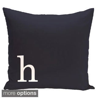 Blue and White 26 x 26-inch Monogram Print Decorative Pillow