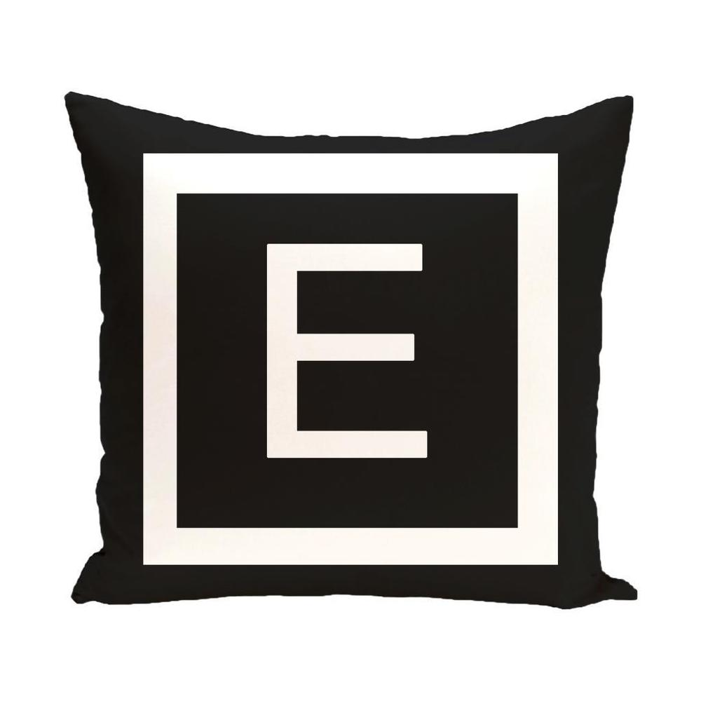 Shop Black and White 20 x 20-inch Monogram Print Decorative Pillow - Overstock - 10148701
