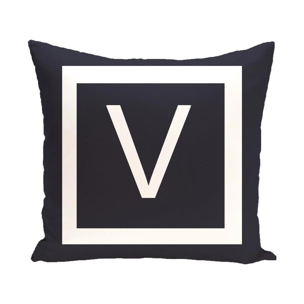 Shop Blue and White 18 x 18-inch Monogram Print Decorative Pillow - 10148709