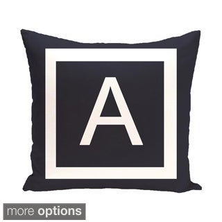Blue and White 18 x 18-inch Monogram Print Decorative Pillow (More options available)