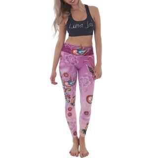 """Luna Jai Women's """"Dagger Birds"""" Active Athletic Pants"""