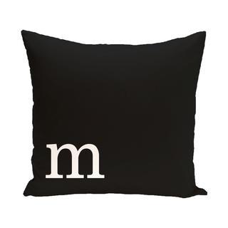 Black and White 20 x 20-inch Monogram Print Decorative Pillow