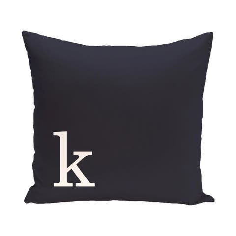 Blue and White 16 x 16-inch Monogram Print Decorative Pillow