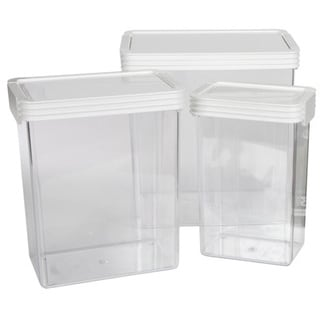 Click Clack Kitchen Essentials Large Airtight Canisters 3-piece Set