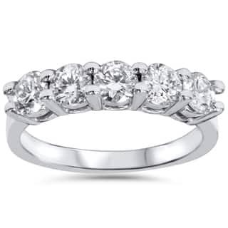 14k White Gold 1 1/4ct TDW Five Stone Diamond Wedding Ring|https://ak1.ostkcdn.com/images/products/10149089/P17278610.jpg?impolicy=medium