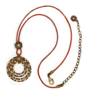 Sweet Romance Southwest Texas Leather Pendant Necklace