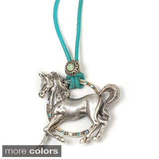 Sweet Romance Pony Leather Southwest Horse Necklace