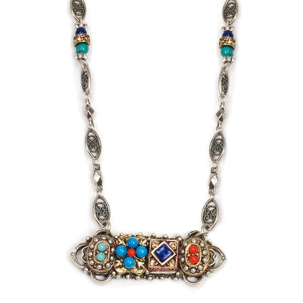 Sweet Romance Southwest Gypsy Silver Bar Necklace