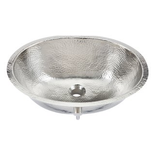 """Link to Sinkology Pavlov 19.25"""" Oval Hand-crafted Bath Sink in Hammered Nickel Similar Items in Sinks"""