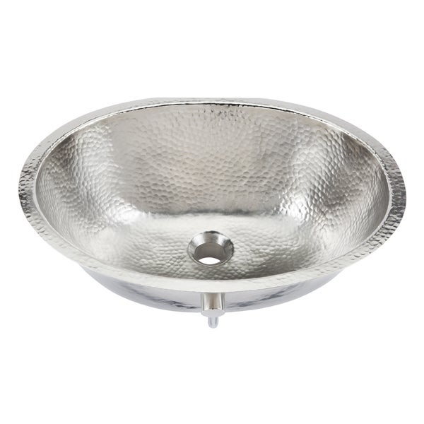 Sinkology Pavlov 19 25 Oval Hand Crafted Bath Sink In Hammered Nickel
