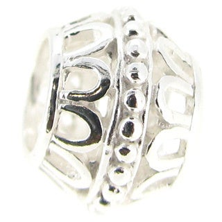 Queenberry Sterling Silver Focal European Bead Charm