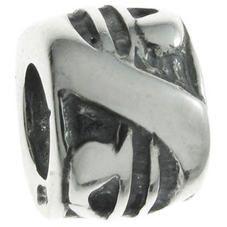 Queenberry Sterling Silver Dollar Sign European Bead Charm