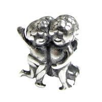 Queenberry Sterling Silver Gemini Twins Zodiac European Bead Charm