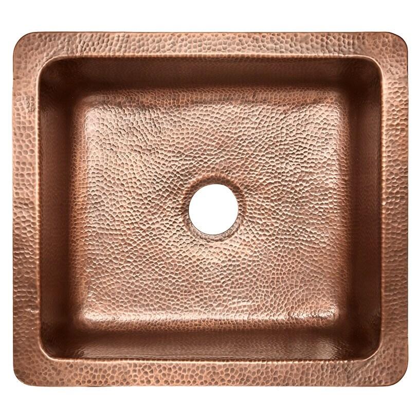 "Sinkology Monet Farmhouse 25"" Copper (Brown) Kitchen Sink..."