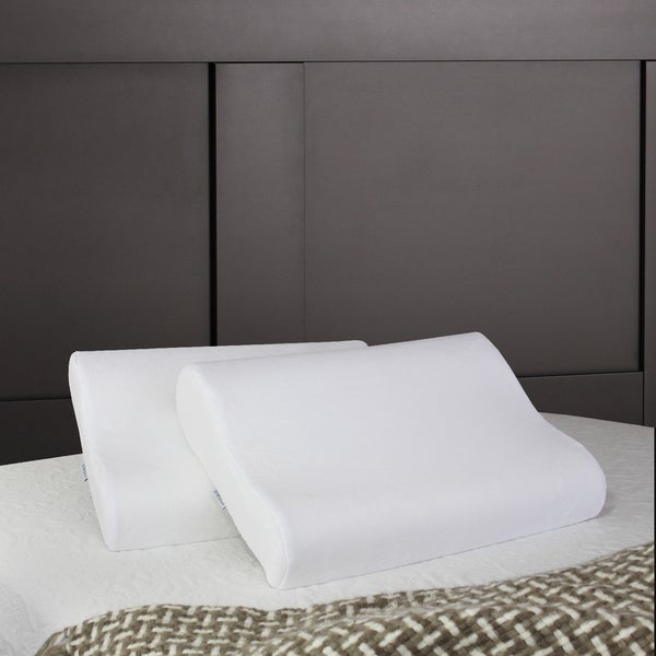 HoMedics Cool Ergo Contour Memory Foam Pillow (Set of 2)