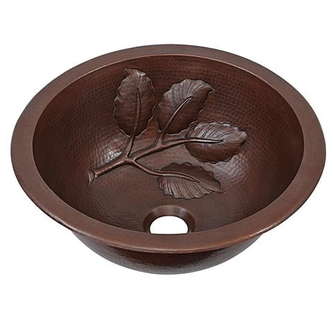 """Sinkology Newton 14"""" Undermount Or Drop-In Handmade Copper Bath Sink"""