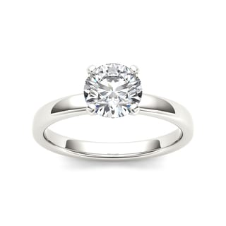 De Couer 14k White Gold 1ct TDW Diamond Exquisite Engagement Ring - White H-I