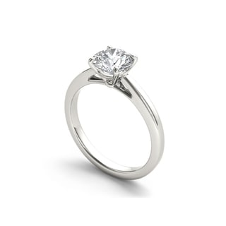 De Couer 14k White Gold 1ct TDW Diamond Classic Engagement Ring - White H-I