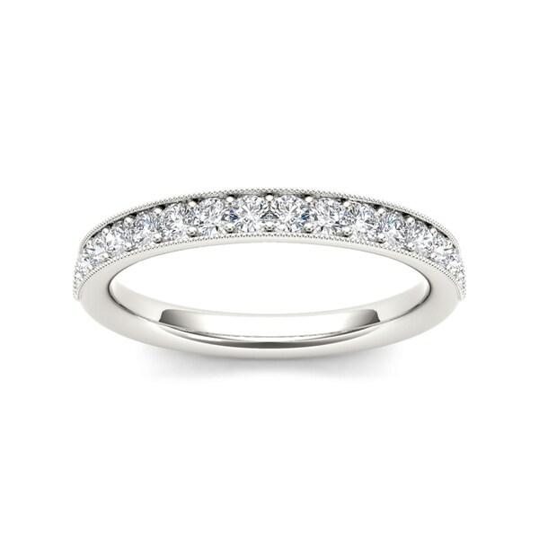De Couer 14k White Gold 2/5ct TDW Diamond Wedding Band