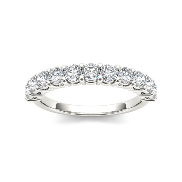 De Couer 14k White Gold 1 3/4ct TDW Diamond Wedding Band