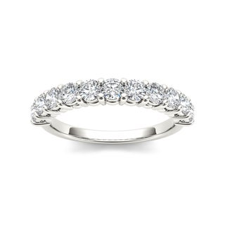 De Couer 14k White Gold 1 3/4ct TDW Diamond Wedding Band