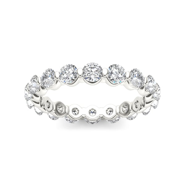 De Couer 14k White Gold 2ct TDW Diamond Eternity Wedding Band