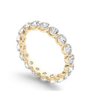 De Couer 14k White Gold 2ct TDW Diamond Eternity Wedding Band (H-I, I2)