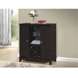 Baxton Studio Derremer Contemporary Dark Brown Bar Cabinet