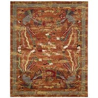 Barclay Butera Dynasty Imperial Persimmon Area Rug by Nourison - 8'6 x 11'6