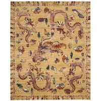 Barclay Butera Dynasty Empire Ochre Area Rug by Nourison - 8'6 x 11'6