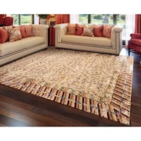 Barclay Butera Dynasty Lotus Ochre Area Rug by Nourison (8'6 x 11'6) - 8'6 x 11'6