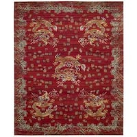 Barclay Butera Dynasty Emperor Oxblood Area Rug by Nourison - 7'9 x 9'9'